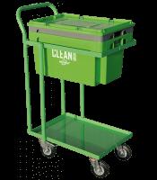 Clean Box con tapa, cesta de inmersión, carro