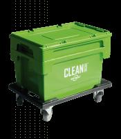 Clean Box con tapa, cesta de inmersión, frenos